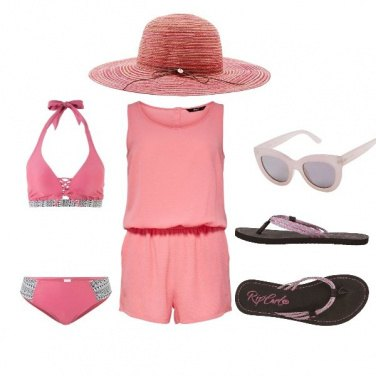 Outfit Al mare in rosa