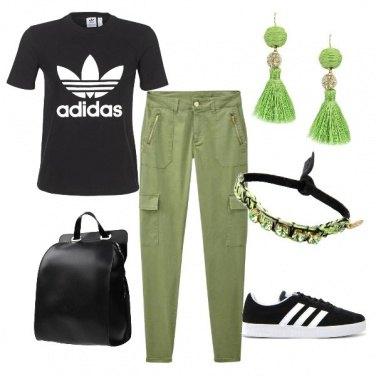 Outfit Verde e nero
