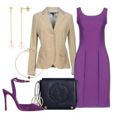 Outfit Il tubino viola