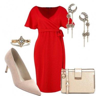 Outfit Maternità in rosso