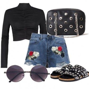 Outfit Borchie e fiori