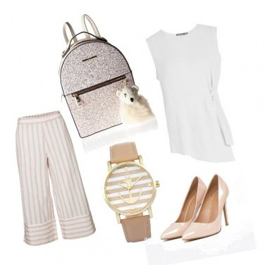 Outfit Pantalone a righe