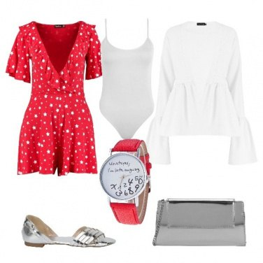 Outfit Rosso e stelle
