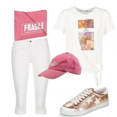Outfit Tracolla rosa