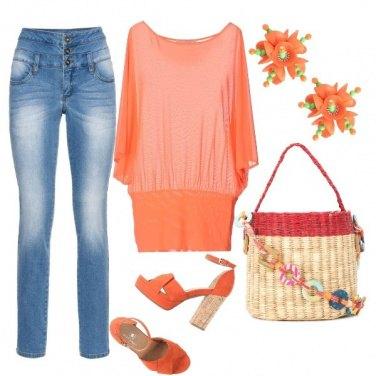 Outfit Primaverile in aragosta