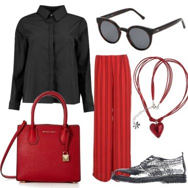 Outfit Le righe nere