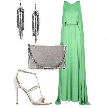 Outfit Abito lungo e verde