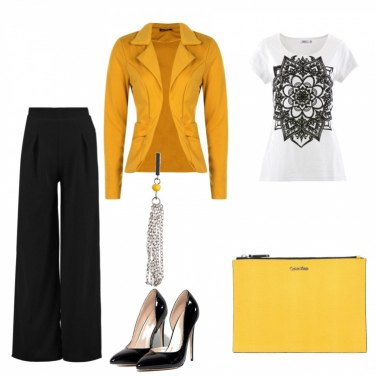 Outfit Chic in giallo!