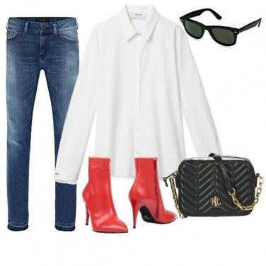 Outfit Gli stivaletti rossi