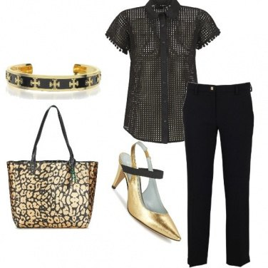 Outfit Borsa oro