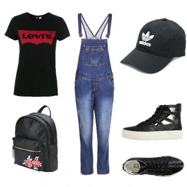 Outfit Anni \'90 la salopette