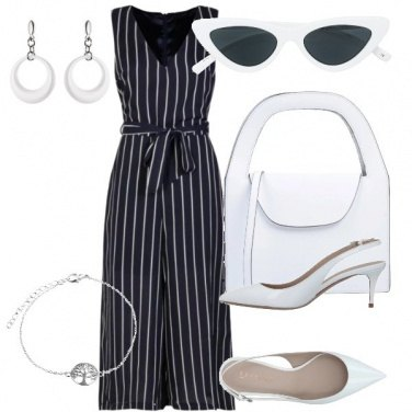 Outfit Jumpsuit a righe