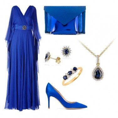 Outfit Chic Blue Dress