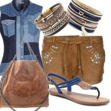 Outfit La camicia di jeans patchwork