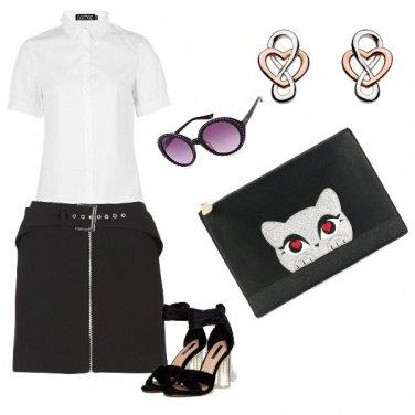 Outfit Bianco e nero estivo
