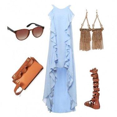 Outfit I sandali alla greca