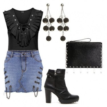 Outfit Petite rock