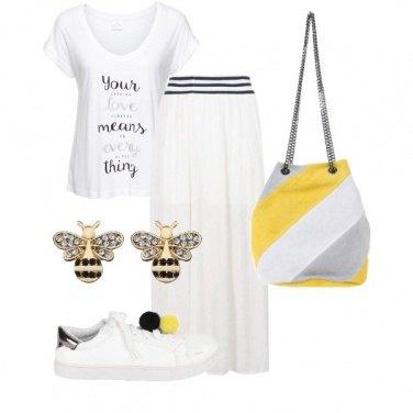 Outfit Bianco di giorno