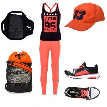Outfit Nero e Arancio