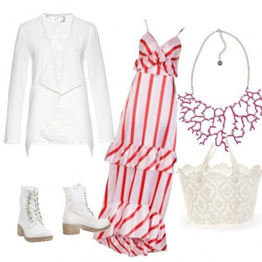 Outfit Coral & White ??