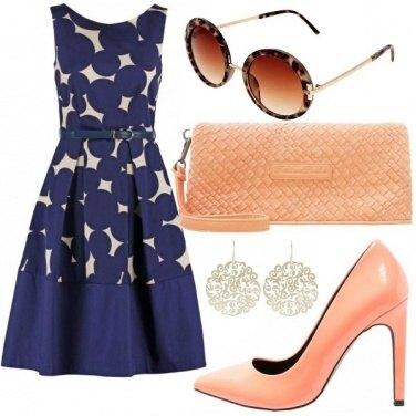 Outfit Peach \'n blue