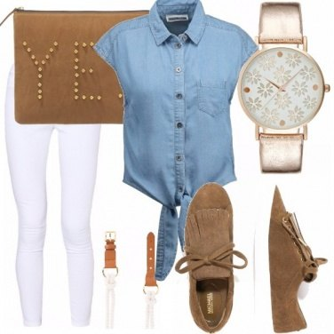 Outfit Caramello casual