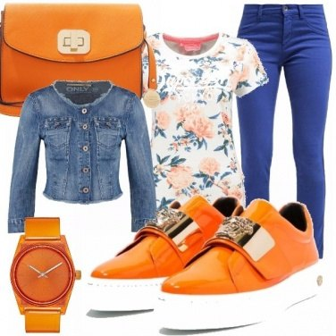 Outfit Casual arancia