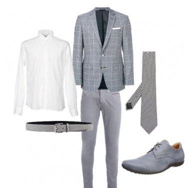 Outfit Cerimonia in grigio