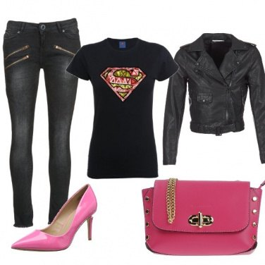 Outfit Rock & rose