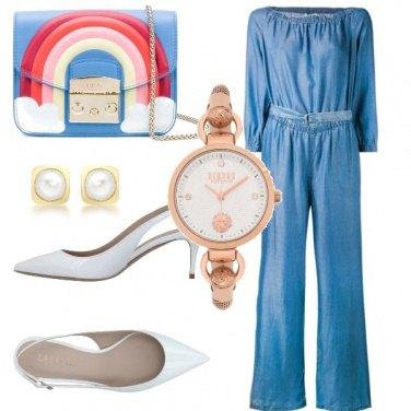 Outfit Borsa con arcobaleno