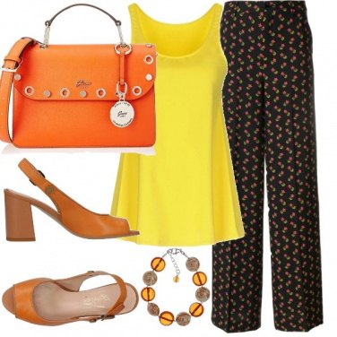 Outfit Canotta gialla
