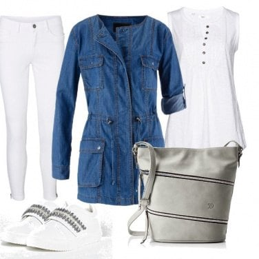 Outfit Il parka dì jeans