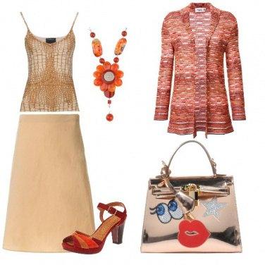 Outfit Sabbia e arancio