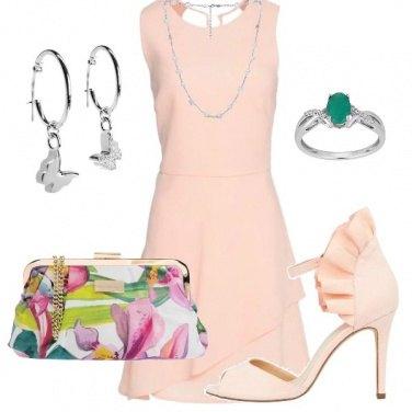 Outfit Battesimo rosa