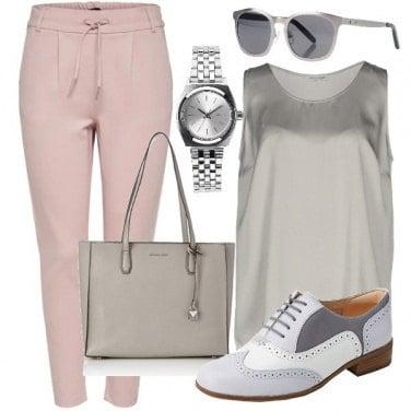 Outfit Grigio e stringate