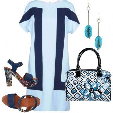Outfit Blu e azzurro