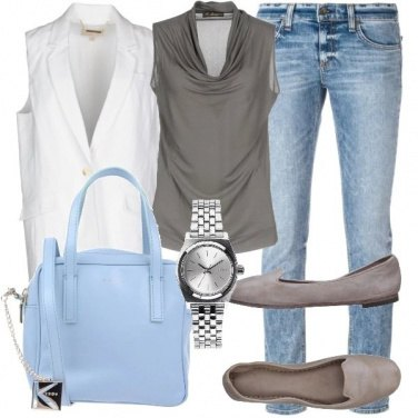Outfit Gilet bianco