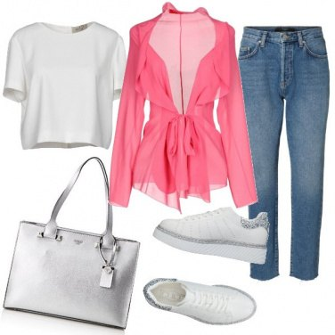 Outfit Il cardigan Rosa