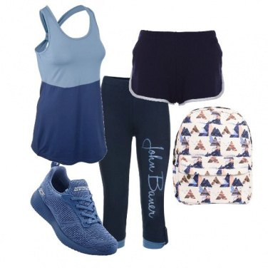 Outfit Sport in blue
