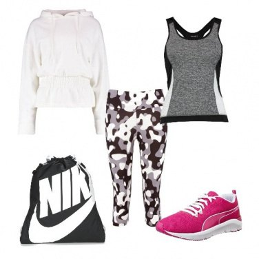 Outfit Un tocco Pink anche in palestra