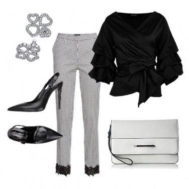 Outfit Bon ton black and white