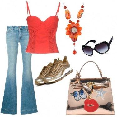 Outfit Il top arancio