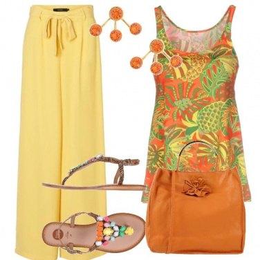 Outfit Arancio e ananas