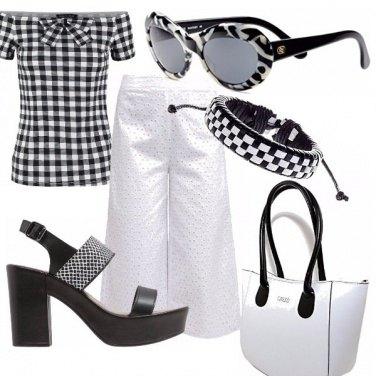 Outfit Bianco e nero retrò