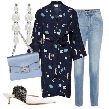 Outfit Kimono sul jeans