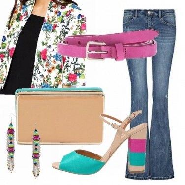 Outfit Turchese e fuxia
