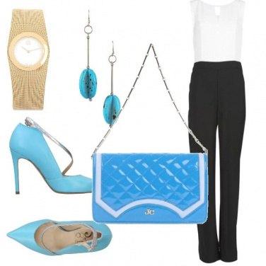 Outfit Ufficio azzurro