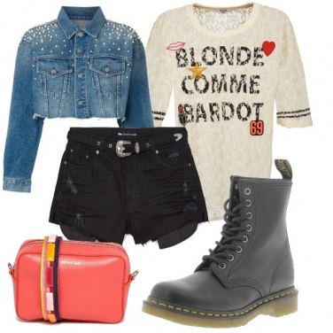 Outfit Blonde comme Bardot