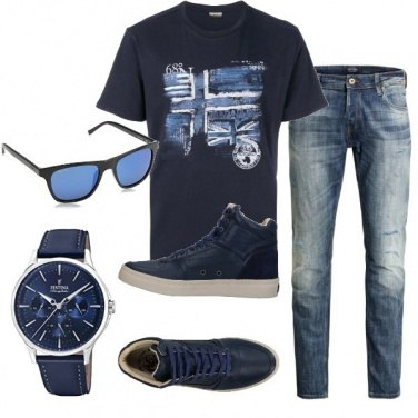 Outfit The man in blue