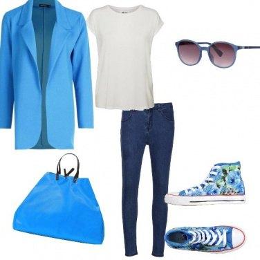 Outfit Un tocco di azzurro